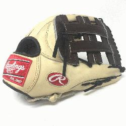 ngs Heart of the Hide 12.75 inch baseball glove. H Web. Open Back. Camel with ch