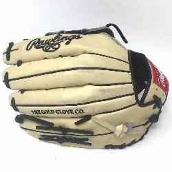 f the Hide 12.75 inch baseball glove. H Web. Open Back. Camel with chocolate brown web, black l