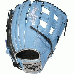 Heart of the Hide ColorSync outfield glove is constructed