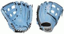 h Heart of the Hide ColorSync outfield glove is constructed from