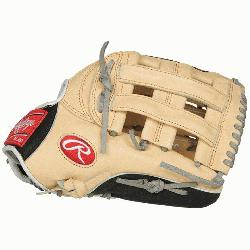 "ide 12.75"" baseball glove features a the PRO H Web pattern, which was"