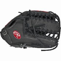 e Hide baseball glove from Rawlings features the Trap-Eze Web pattern, wh