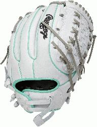 the Hide fastpitch softball gloves from Rawlings provide the perfect fit for the female athlete. F