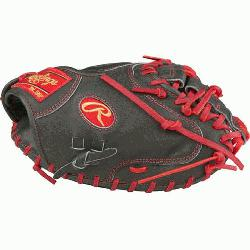 tion Color Sync Heart of the Hide Catchers Mitt from Rawlings features the One Piece Closed We