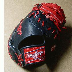 Heart of the Hide players series 1st Base model features an open Web. Wit