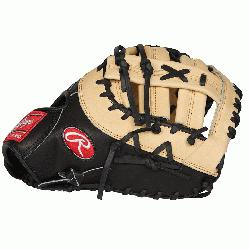 Rawlings 13-inch Heart of the Hide first base glove is perfect for high c