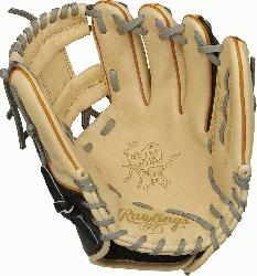 top of the line, ultra-premium steer hide leather the Rawlings Heart of the Hide 11. 5-inch infiel