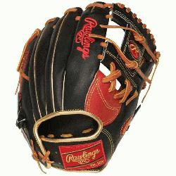 cted from Rawlings' world-renowned Heart of the Hide® steer hide leather, He