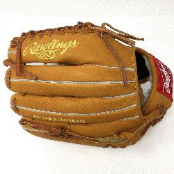 emake of the Horween leather 12.75 inch outfield glove with trap-eze web. No