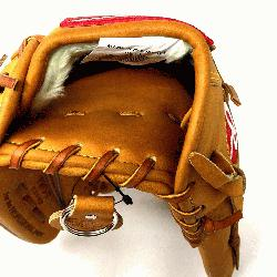 the Horween leather 12.75 inch outfield glove with trap-eze web. No palm pad. St