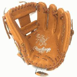 s Heart of the Hide Camel and Tan 11.5 inch baseball glove. Open back and I Web