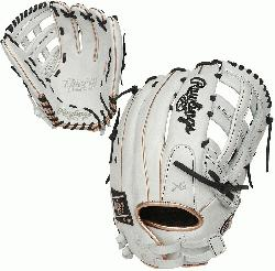 lack Colorway 13 Inch Model H Web Break-In: 70% Factory / 30% Player Custom Fit, Adjustable, Non