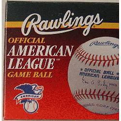 ings Official American League Game Ball (1 ea) : The 1995 to1999 Official American