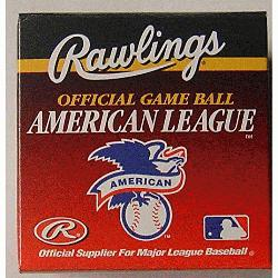 ficial American League Game Ball (1 ea) : The 1995 to1999 Official American League Baseballs are