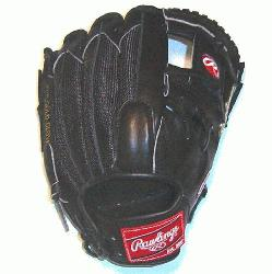 of the Hide 11.75 Pro Mesh I Web Open Back All Black Baseball Glove Exclu