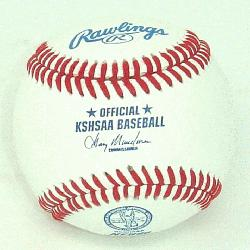 ial Baseballs with KSHSAA Kansas Baseball NFHS stamp. /p