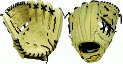 Inch Baseball Glove Colorway: Camel | Black Conventional Open Back Dimple Senso