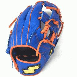 Inch Baseball Glove Colorway: Blue | Orange Conventional Open Back Dimple Sens