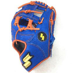 Inch Baseball Glove Colorway: Blue | Orange Conventional Open Back Dimple Sensor T
