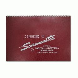 Petersons Original Scoremaster Scorebook for baseball and softball. Includes