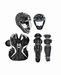ior Age 9-12 PTH Victory Series Catchers Set (Navy) : Under A