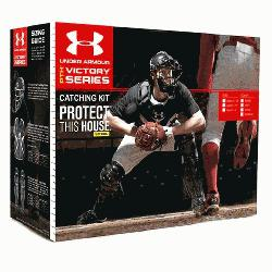 Age 9-12 PTH Victory Series Catchers Set (Scarlet) : Under Armour PTH Victory Series UA