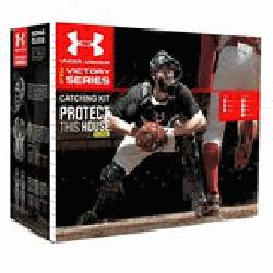 Armour Junior Age 9-12 PTH Victory Series Catchers Set (Scarlet) : Under Armour