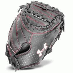 Framer series mitt features a blend of leather with a high
