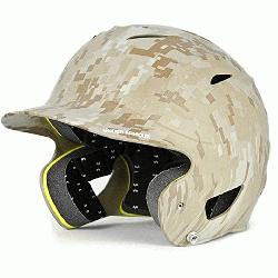 h Batting Helmet Matte Finish (Camo) : Under Armour Protective UABH110MC Youth