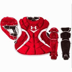 mour Youth Age 7-9 Victory Series Catchers Set (Scarlet) :