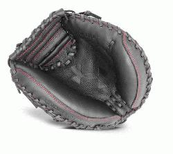 ramer series mitt features a blend of leather with a high end synthetic backing adding durability