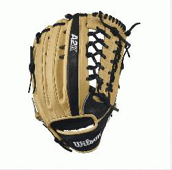 12.5 Wilson A2K KP92 Outfield Baseball GloveA2K KP92 Outifeld 12.5 Baseball Glove - Right Hand Thro