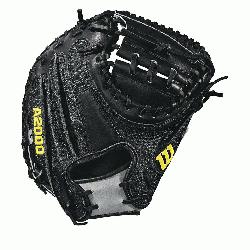 33.5 catcher model, half moon web Thumb Protector Black SuperSkin -- twice th