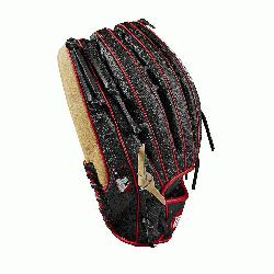 outfield model, 6 finger trap web Black SuperSkin -- twice the strength