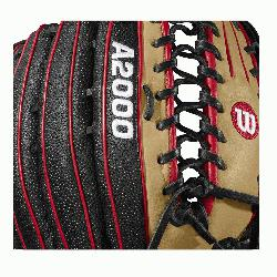 12.75 outfield model, 6 finger trap web Black SuperSkin -- twice the strength but half the w