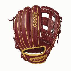 model, dual post web Brick Red with Vegas gold Pro Stock leather, preferred for its rugged durab