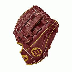 5 infield model, dual post web Brick Red with Vegas gold Pro Stock leather, preferred for its rugg
