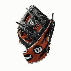 b Black SuperSkin, twice as strong as regular leather, but half the weight Copper and White P