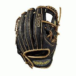 Baseball glove Made with pedroia fit for players with a smaller hand H-Web design Black and blond