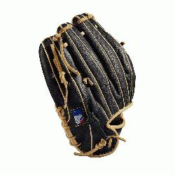 Baseball glove Made with pedroia fit for players with a smaller hand H-Web design Black and blonde