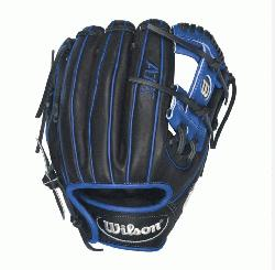 al Blue Accents - 11.5 Wilson A1K DP15 Blue Accents Infield Baseball GloveA1K DP15