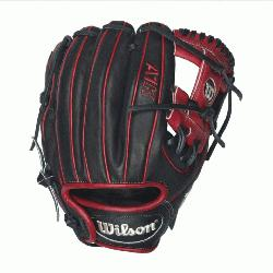 ents - 11.5 Wilson A1K DP15 Red Accents Infield