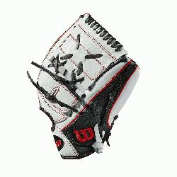 pitchers glove 2-piece web Black SuperSkin, twice as strong as regular leather, but h