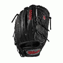 rs glove Pitcher WTA20RB19B125 Two-piece web Black Pro Stock leather, preferred for its rugged d