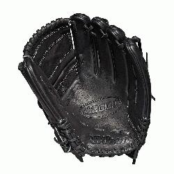 inch pitchers glove Pitcher WTA20RB19B125 Two-piece web Black Pro Stock leather, pr