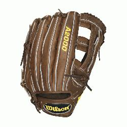 ilson A2000 Outfield Baseball Glove 1799 and 12.75 inches. Wilson 12.75 inch Outfield Model. Dual P