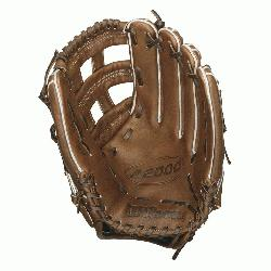 000 Outfield Baseball Glove 1799 and 12.75 inches. Wilson 12.75 inch Outfield Model.
