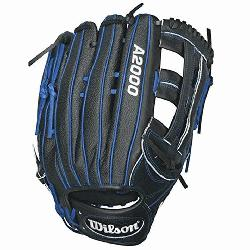 n A2000 1799SS Baseball Glove. 12.75 inch Outfield Model. Reinforced Dual Post Web.