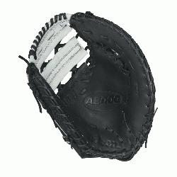 M12 SS fastpitch first base mitt was designed with a single heel-break allowing for a thumb to