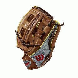 20RB19DP15GM for Dustin pedroia; Cross web Grey SuperSkin with saddle tan and